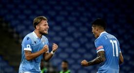 Ciro Immobile quiere seguir en la Lazio hasta su retirada. AFP