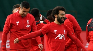 Salah is starting. AFP