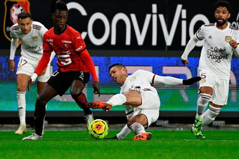El futbolista del Rennes no deja de sonar para jugar en el Real Madrid. AFP