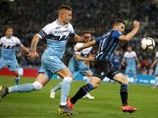 Lazio see off Atalanta to win seventh Coppa Italia. AFP