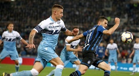 Lazio see off Atalanta to win seventh Coppa Italia. AFP