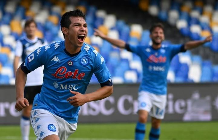 Hirving Lozano volvió a los terrenos de juego tras su lesión. AFP