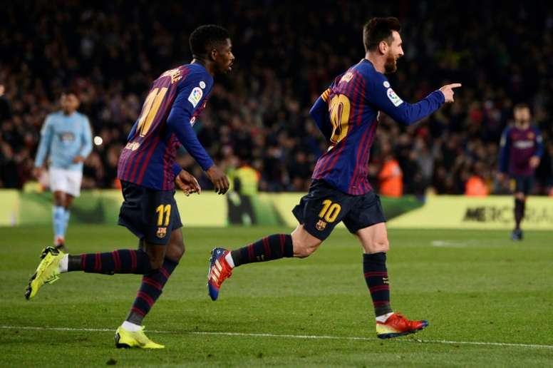 Messi a marqué contre Vigo. AFP