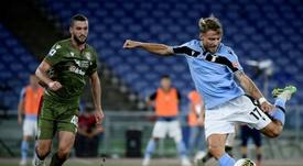 Le formazioni ufficiali di Verona-Lazio. AFP