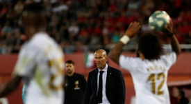 L'équipe du Real Madrid soutient à fond Zinedine Zidane. AFP