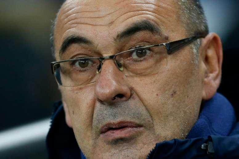 Sarri fue crítico con el Bayern. AFP