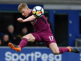 De Bruyne was named in the PFA team of the year. AFP