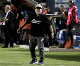 Maradona had a spell as a manager. AFP