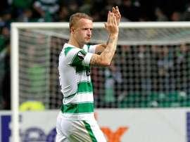 Griffiths hizo el segundo tanto del Celtic ante el Inverness. AFP