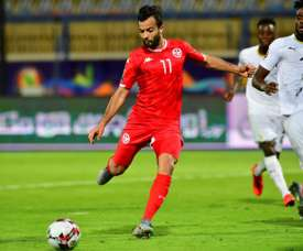 Khenissi scored Tunisia's goal in normal time and his team went through on penalties. AFP
