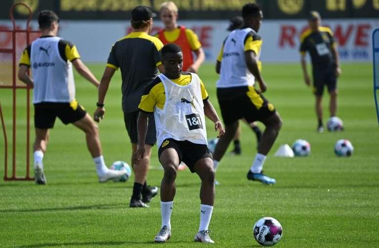 Samuel Eto'o conseille au FC Barcelone de recruter Youssoufa Moukoko. afp