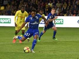 Mothiba enjoyed a strong season at Strasbourg this past year. AFP