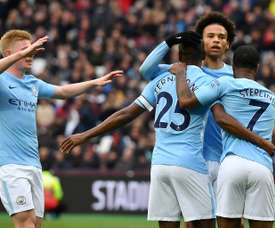 Sane scored City's opening goal. AFP