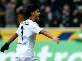 Mahmoud Dahoud celebrates scoring for Moenchengladbach. BeSoccer