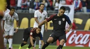 Clint Dempsey abrió el marcador en la victoria por 4-0 de EEUU a Costa Rica. Archivo/EFE/AFP