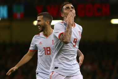 Alcácer has one goal every 25.5 minutes. AFP