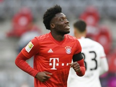 Alphonso Davies skipped training with a groin problem. AFP