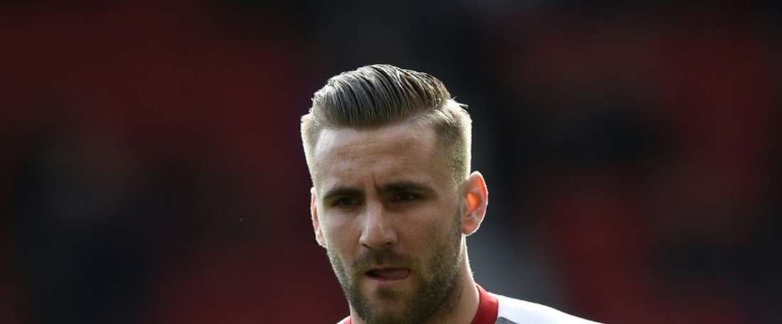 Luke Shaw's Manchester United career looks to be as good as over. AFP