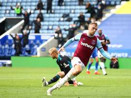 West Hams Jarrod Bowen scored against Leicester. afp_en