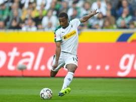 Gladback forward Alassane Plea has eight goals in just nine games. AFP