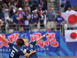 Japan are victorious. AFP
