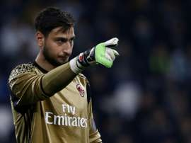 Gianluigi Donnarumma made a blunder in Milan's draw.
