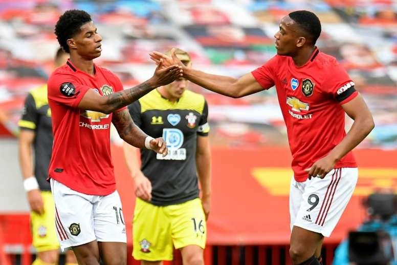 United neutralisé par Southampton. AFP