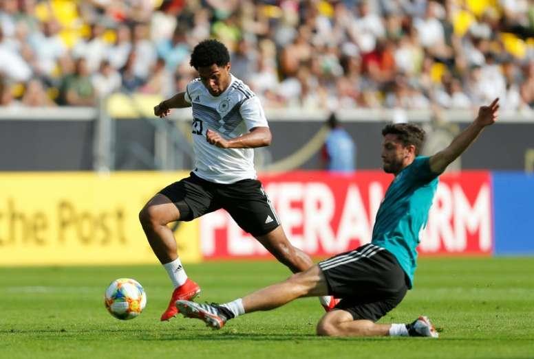 Sané espera jugar con la Selección Alemana. AFP