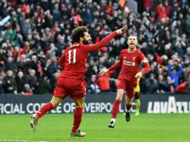 Salah precisou de quatro minutos para marcar em 2020. AFP