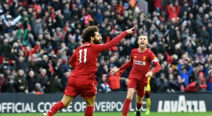 Salah was one of the African players to shine at the weekend. AFP