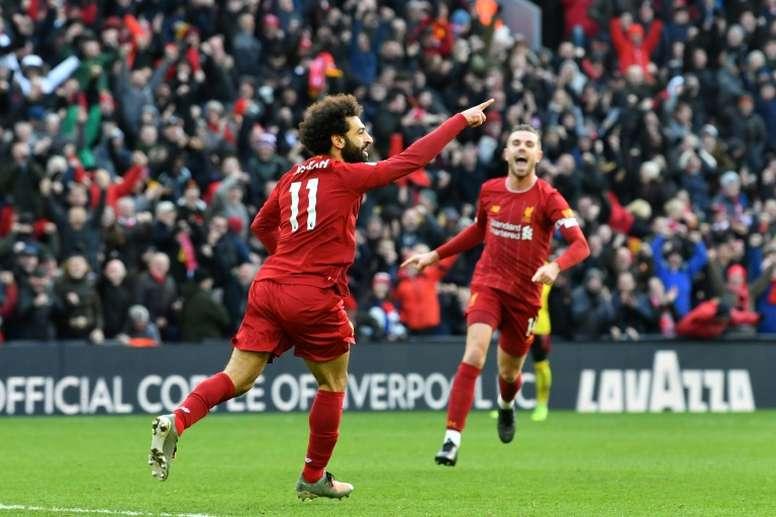 Salah, el elegido para sustituir a Bale. AFP
