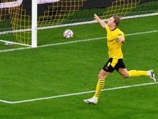 Haaland scored as Dortmund beat Zenit 2-0 with late goals. AFP