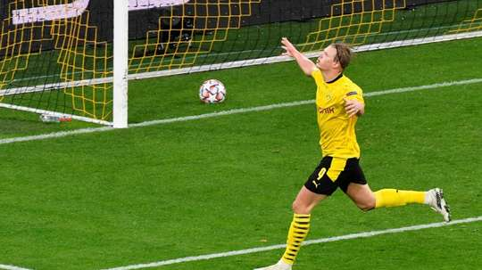 Haaland scored as Dortmund beat Zenit 2-0 with late goals. AFP