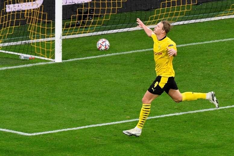 Haaland cada vez mais goleador. AFP