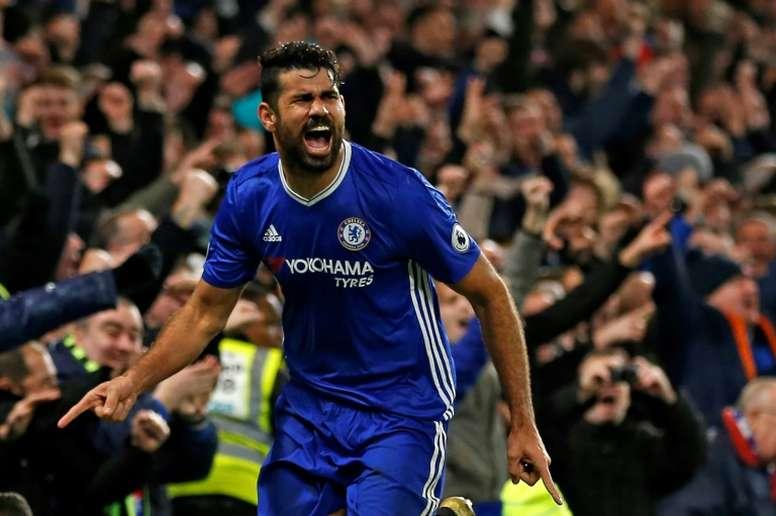 Chelsea striker Diego Costa has scored 14 goals this season. AFP