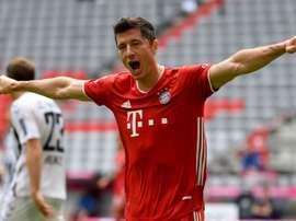 Bayern eye treble after Lewandowski claims league goal record. AFP