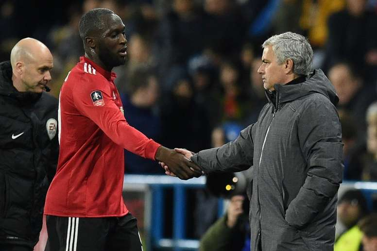 Lukaku enjoys working under Mourinho. AFP