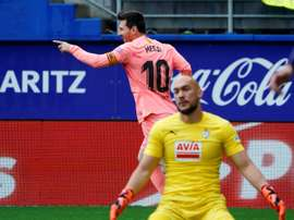 Mendilibar encense Messi. AFP