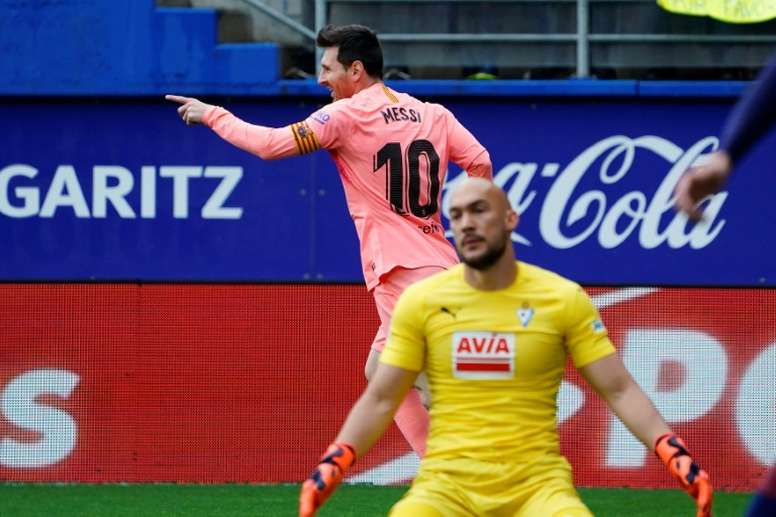 Messi's quickfire brace ensured Barcelona went home with a point. AFP