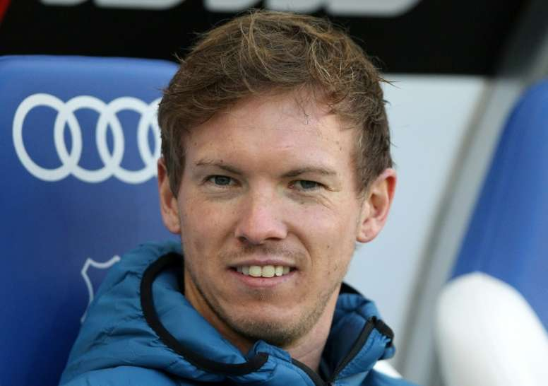 Hoffenheim coach Julian Nagelsmann attends a match between his team and Cologne. AFP