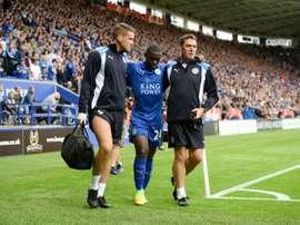Nampalys Mendy no ha triunfado en el Leicester. AFP/Archivo