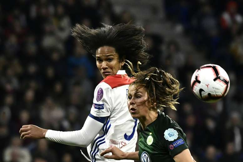 Le Sommer and Renard give holders Lyon first-leg edge over Wolfsburg