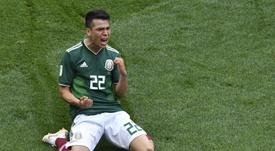 La sensación mexicana, en el punto de mira del United. AFP