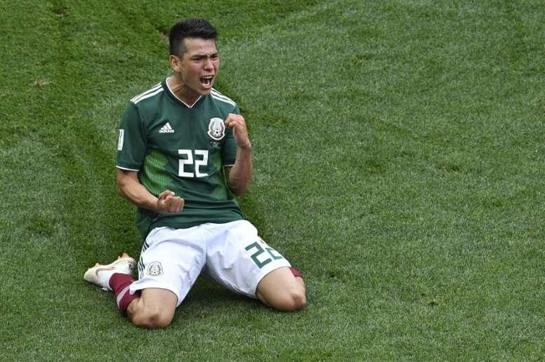 Lozano est dans le viseur de Manchester United. AFP