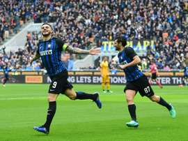 Icardi's fine form continued on Saturday. AFP
