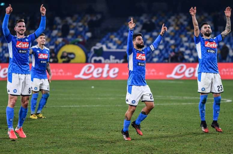 Napoli beat Inter Milan to close in on Italian Cup final. AFP