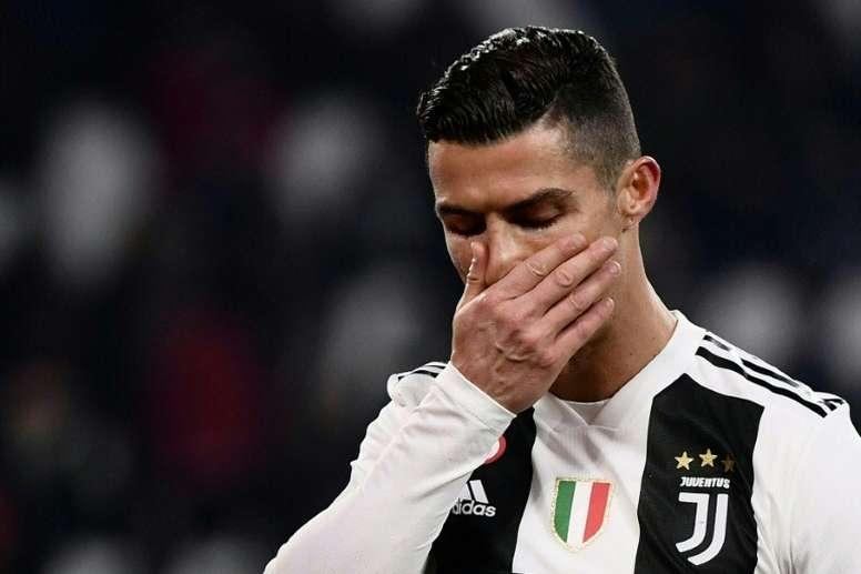 Cristiano falhou um penalti em Itália. AFP