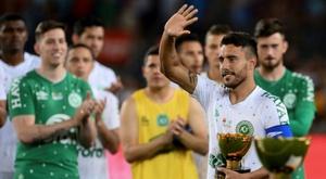 Sobrevivente da Chape, Alan Ruschel vai atuar pelo Goiás. AFP