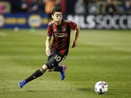 Almirón pourrait recaler chez les 'Gunners' cet hiver. AFP