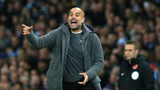 Pep Guardiola could face FA action over comments he made about referee Anthony Taylor. AFP